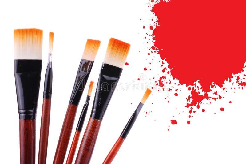 brush målarfärg royaltyfri foto