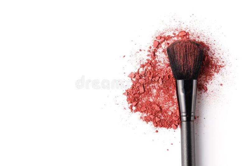 Brush for makeup on a white background stock photo
