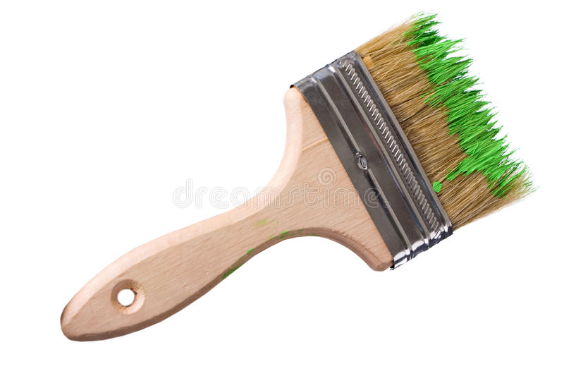 Download Brush with paint stock photo. Image of painting, wood - 11657966
