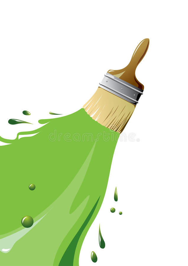 Brush and paint vector illustration