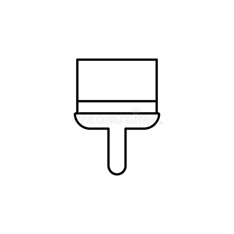 brush, paint, paintbrush icon. Simple thin line, outline vector of Construction tools icons for UI and UX, website or mobile stock illustration