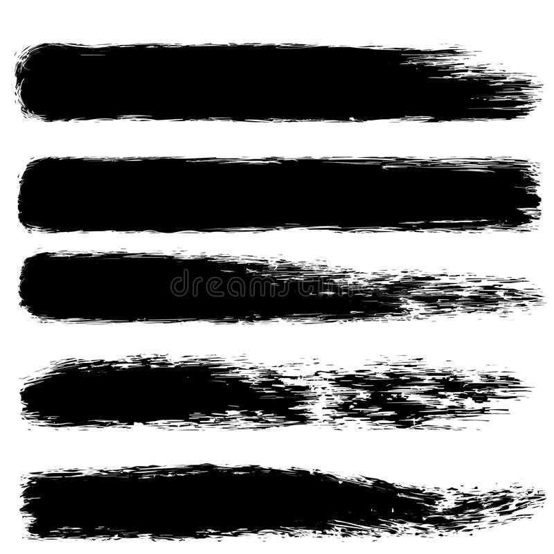 Brush paint stroke set. For your business project vector illustration
