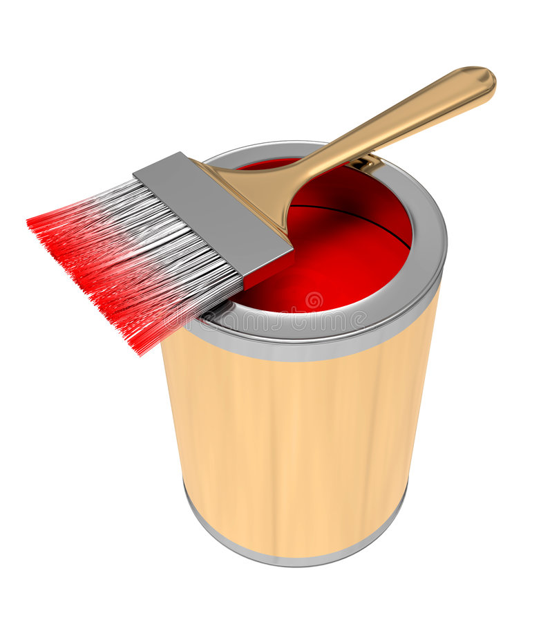 Download Brush for painting stock illustration. Image of rainbow - 2389905