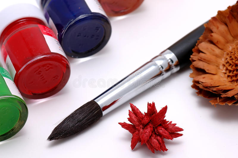 Download Brush and paints stock photo. Image of decor, indoor - 12104880