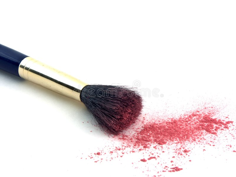 Brush and powder stock image