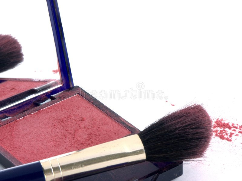 Brush and powder 4 royalty free stock images
