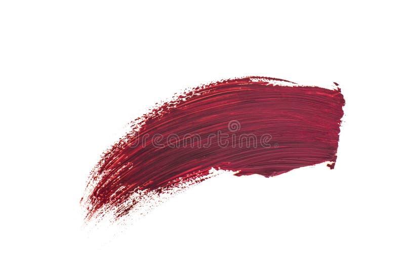 Brush stroke. Isolated on white background stock photography