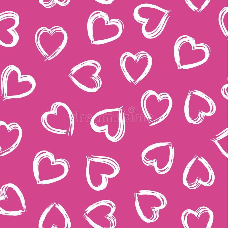Brush stroke heart vector illustration