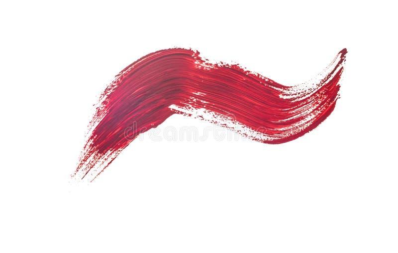 Brush stroke. Isolated on white background stock photo
