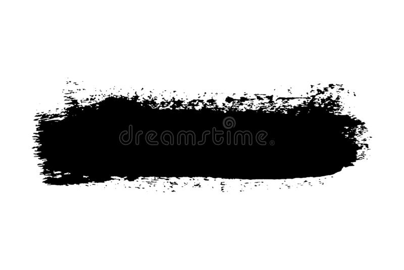 Brush stroke isolated on white background. Black paint brush. Grunge texture stroke line. Art ink dirty design. Border. For artistic shape, paintbrush element royalty free illustration