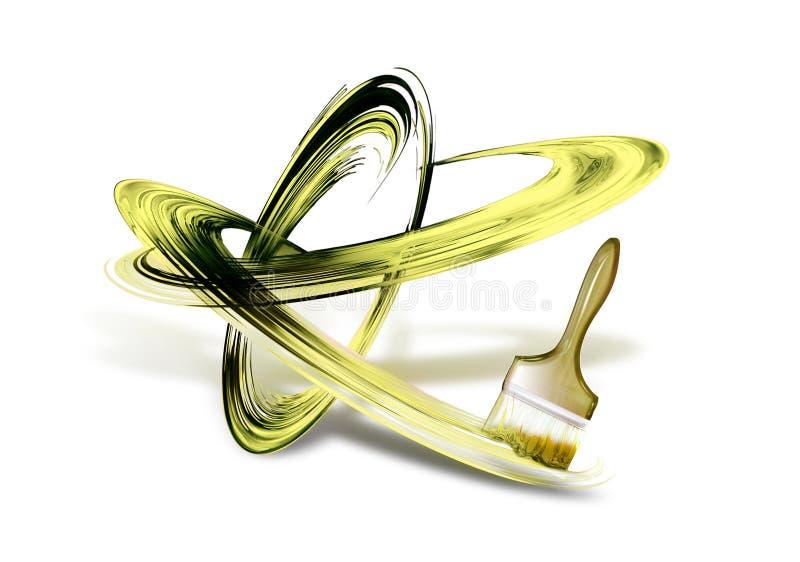 Download Brush strokes stock illustration. Image of brush, brightly - 25355083