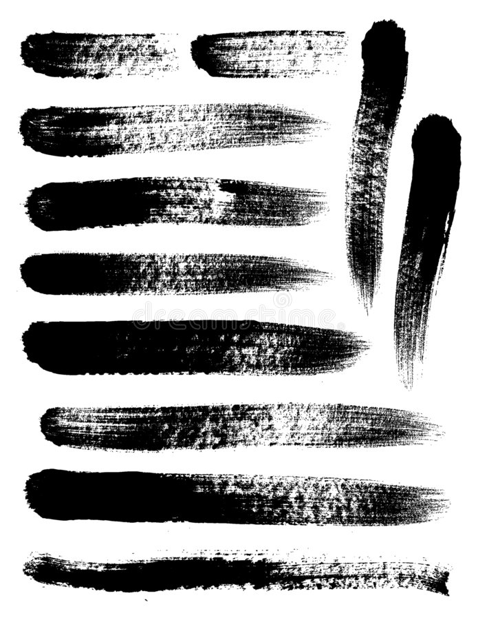 Brush Strokes. Isolated grunge elements brush strokes