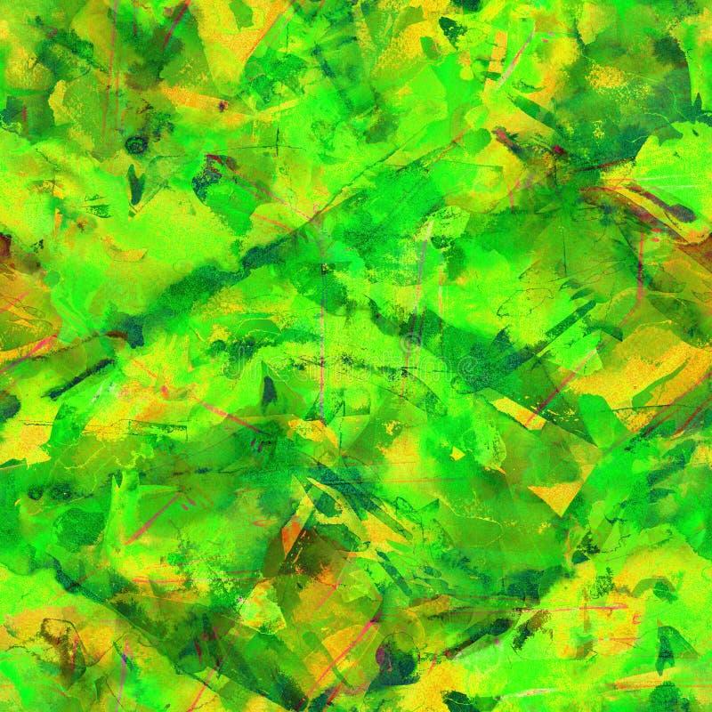 Brush strokes background. Green watercolor seamless pattern. Brush strokes background. Vintage abstract summer acrylic endless tile. Watercolour square liquid stock photos