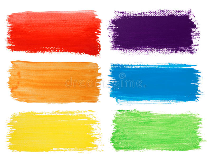 Brush strokes backgrounds. Isolated on white royalty free stock photography