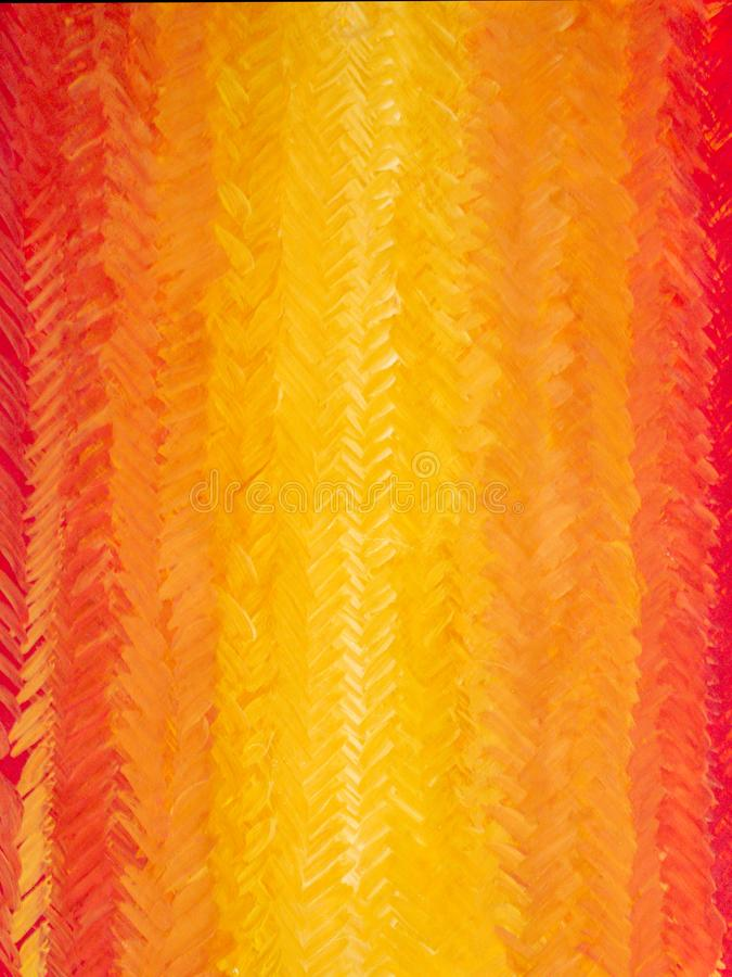 Brush strokes form herringbone pattern. Joyful bright multicolored backdrop. A beautiful smooth transition from red to yellow and back. Gdaddientny background stock illustration