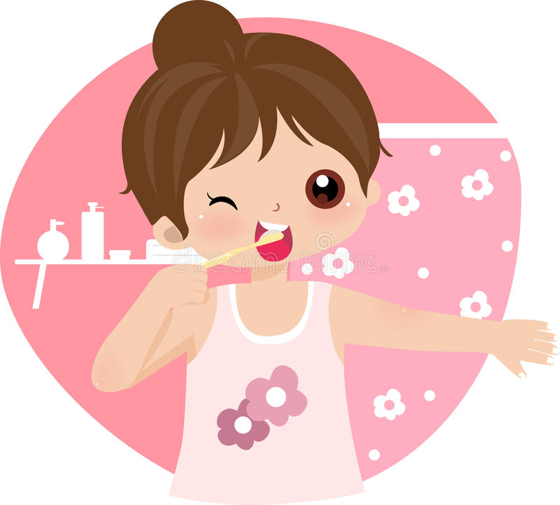 Download Brush Teeth stock vector. Image of child, foam, coloured - 10813271