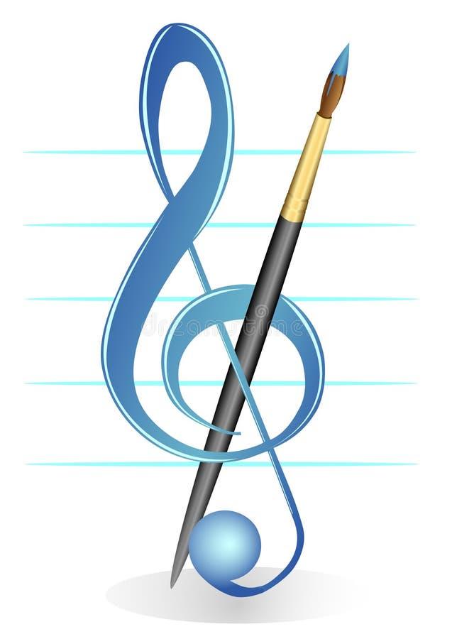 Brush and treble clef