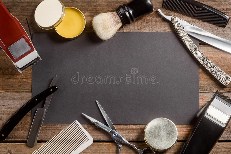 Brush and wax royalty free stock photography