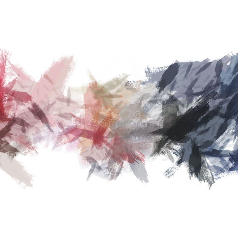 刷绘抽象背景 画笔 画笔 抽象图 向量例证