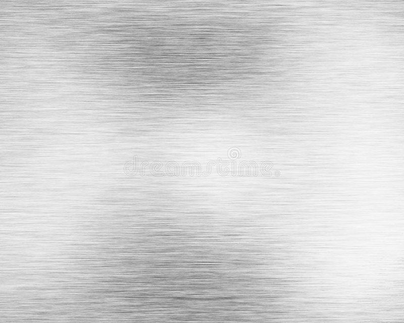 Brushed alluminium metal plate royalty free illustration
