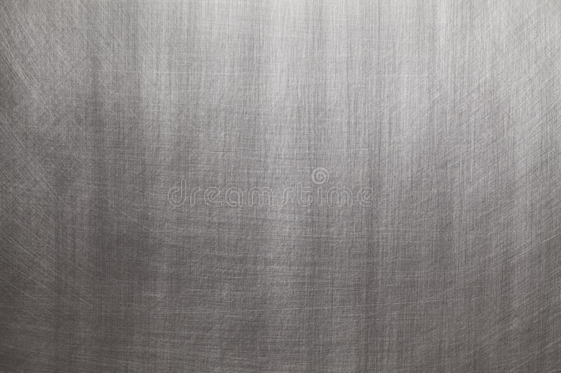 Brushed aluminum or steel - silver background stock images
