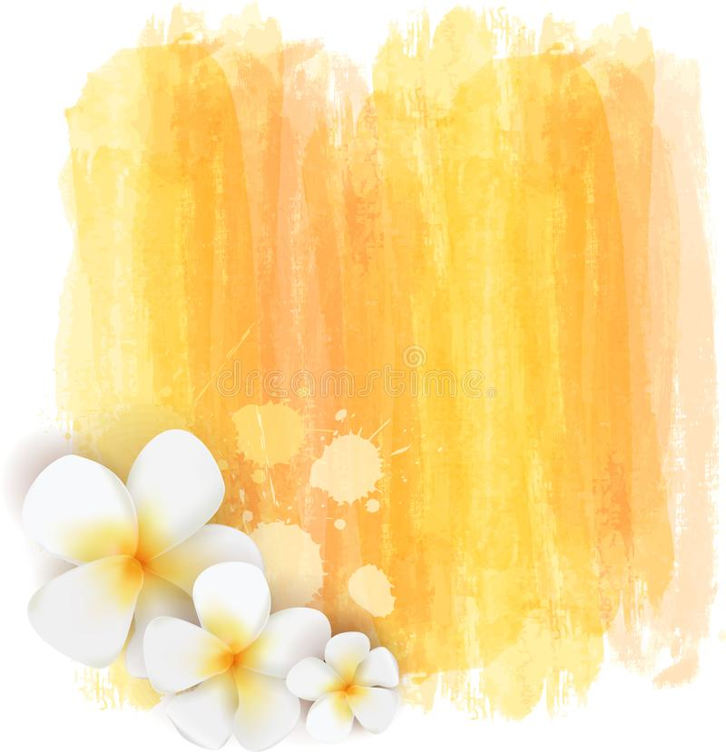 Free Brushed Backgrounds With Flowers. Yellow Colored Stock Photos - 139907363