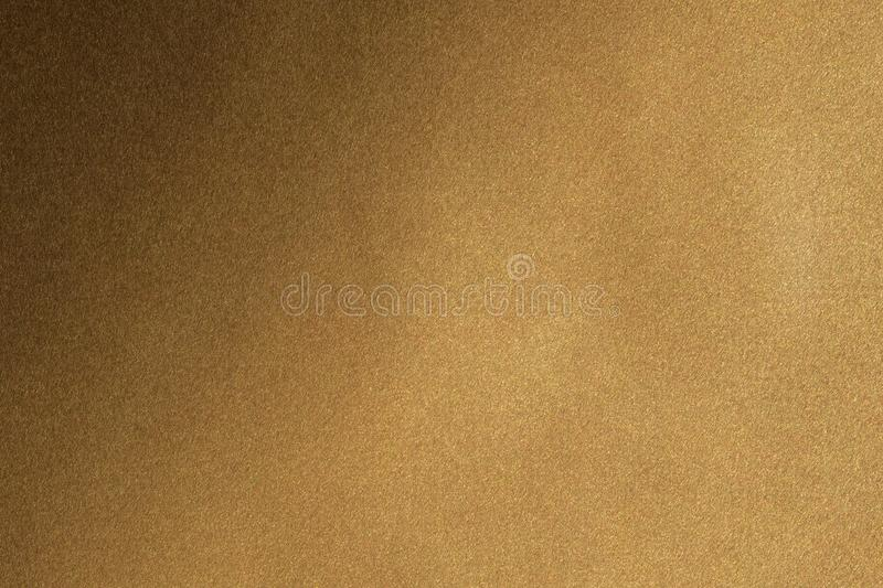 Brushed brown metal wall surface, abstract texture background vector illustration