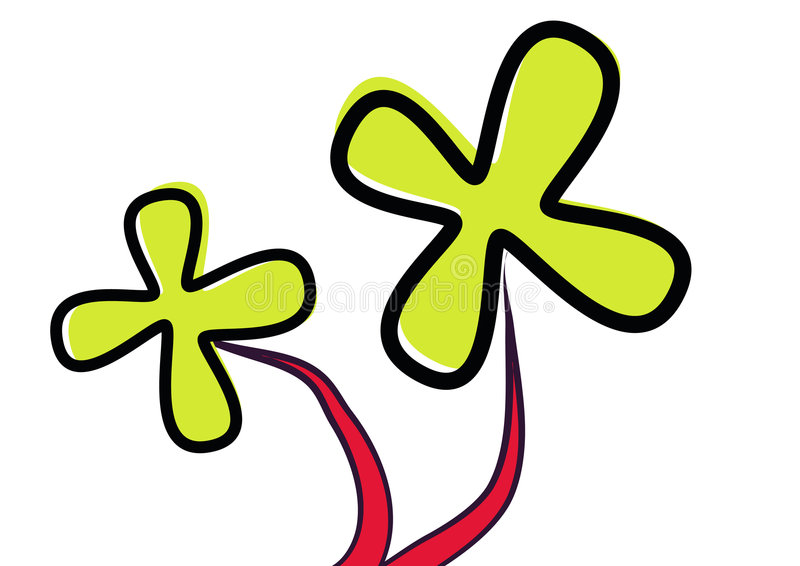Brushed Flower - Vector Stock Image