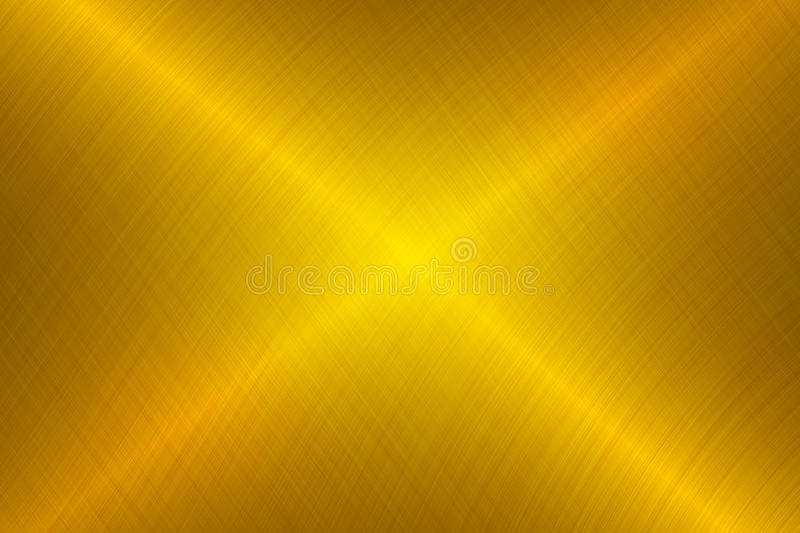 Brushed Gold Metallic Background Stock Photography