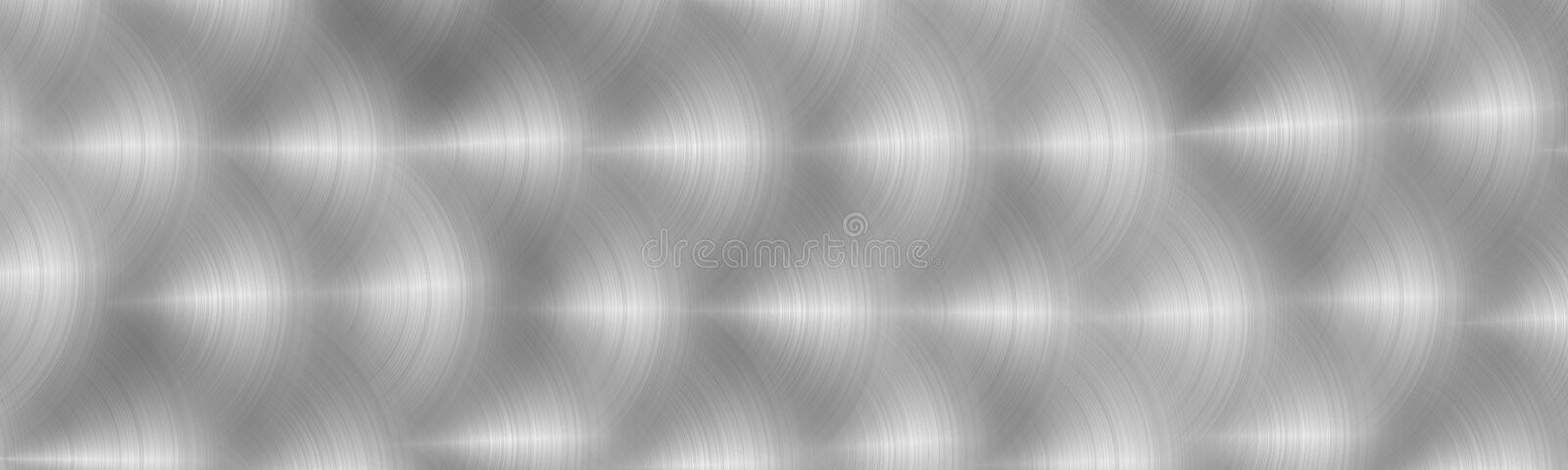 Brushed gray metal surface. Texture of metal. Abstract steel background.  Panoramic image. Brushed gray metal surface. Texture of metal. Abstract steel stock illustration