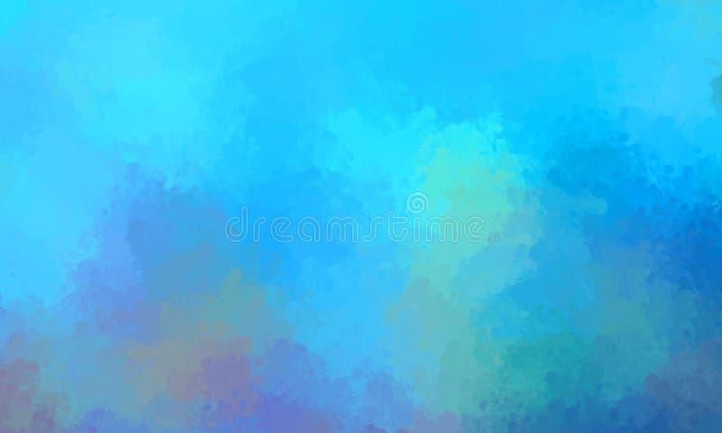 Brushed målade abstrakt bakgrund Slagen borste abstrakt wallpaper målning royaltyfri illustrationer