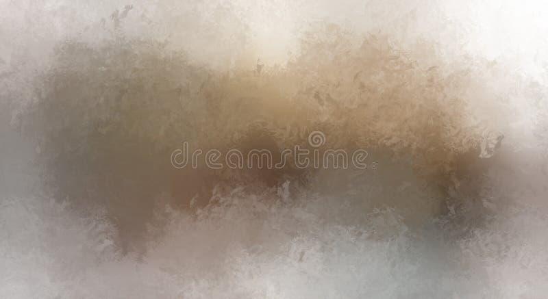 Brushed malte abstrakten Hintergrund Bürste gestrichene Malerei Anschläge der Farbe Abstrakte Abbildung lizenzfreie stockbilder