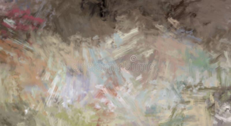 Brushed malte abstrakten Hintergrund B?rste gestrichene Malerei Anschl?ge der Farbe Abstrakte Abbildung stockbilder