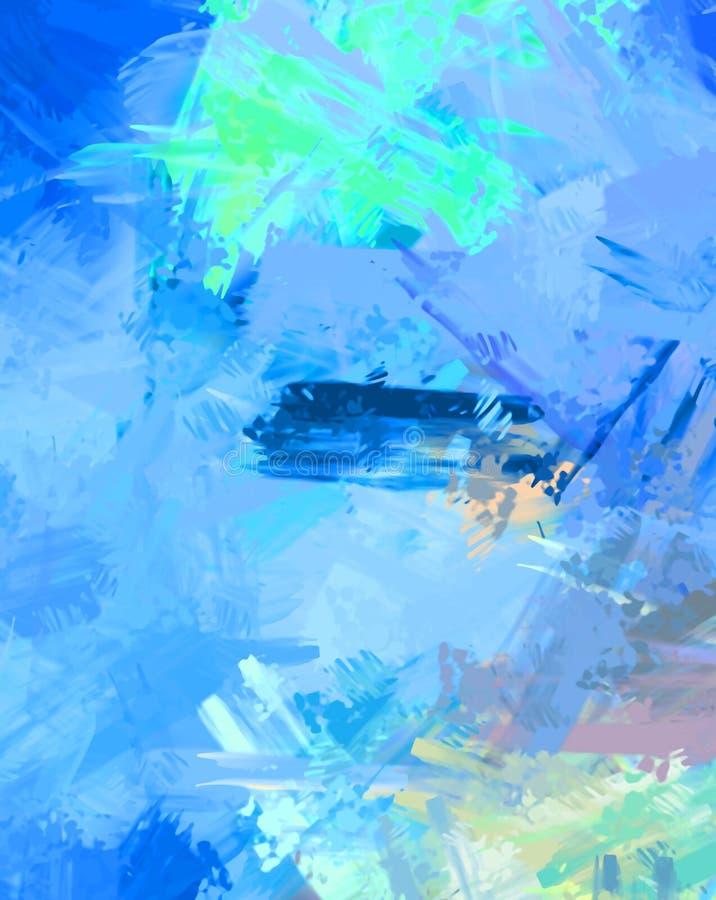 Brushed malte abstrakten Hintergrund B?rste gestrichene Malerei Anschl?ge der Farbe Abstrakte Abbildung lizenzfreie stockfotos