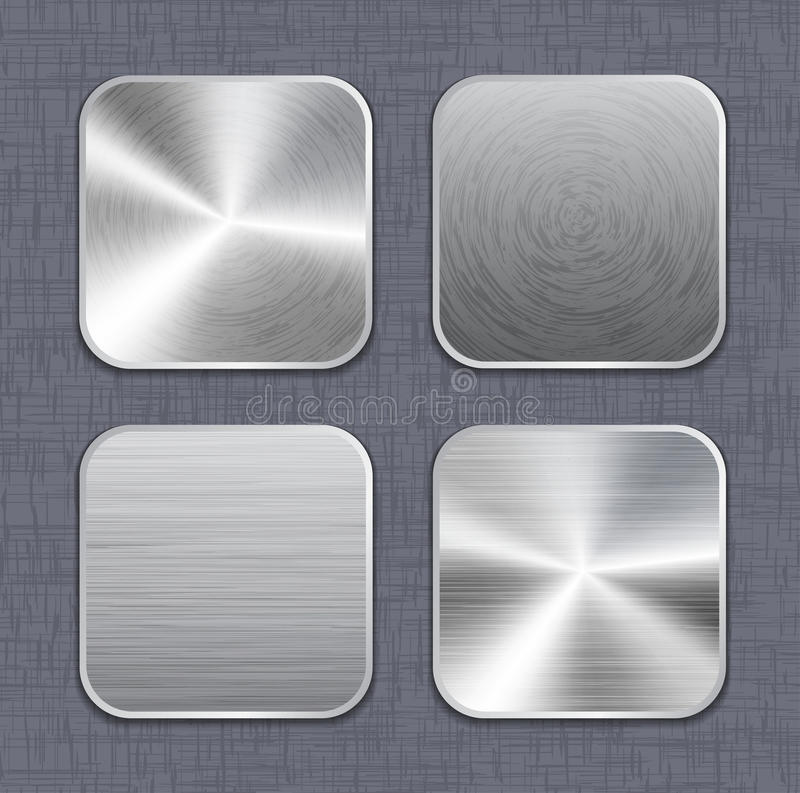 Brushed metal app icon templates 2