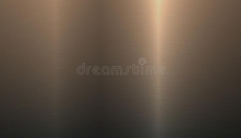 Brushed Metal Background - Golden Or Bronze Vector Illustration stock illustration