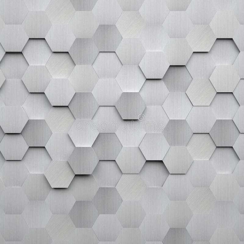 Brushed Metal Hexagon Background vector illustration