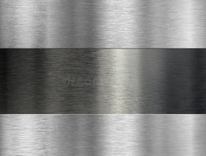 Brushed metal industrial background stock image