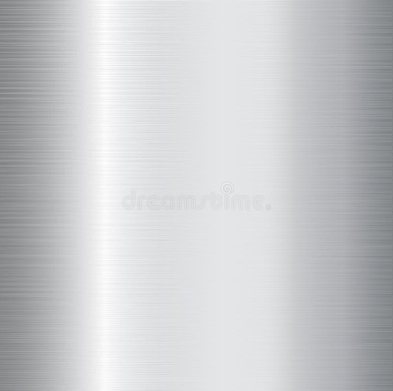 Brushed metal. Brushed iron metal textured background royalty free illustration