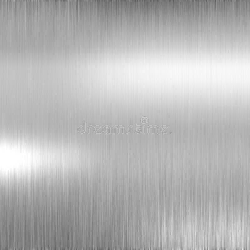 Brushed metal plate vector illustration