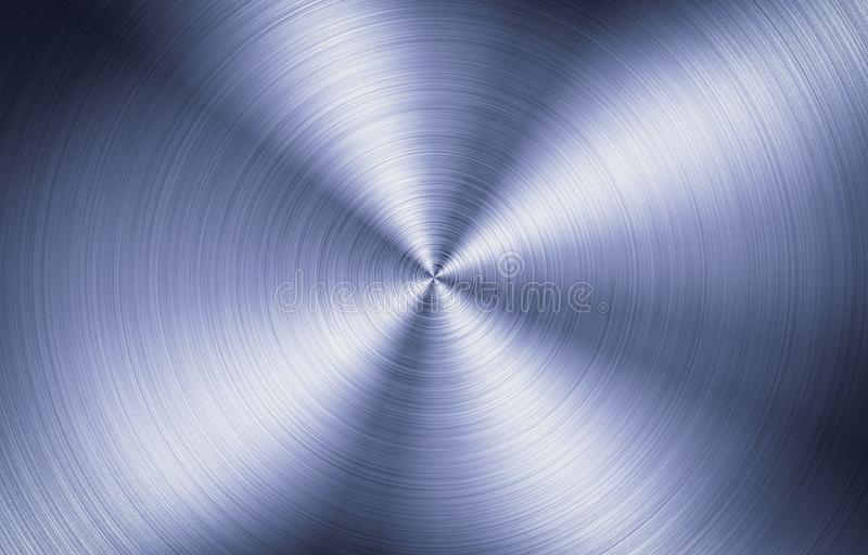 Brushed Metal Round Texture royalty free stock photo