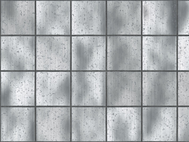 Brushed metal square tiles stock illustration
