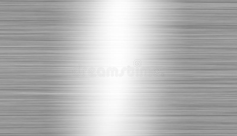 Brushed metal: steel or aluminum texture background stock photo