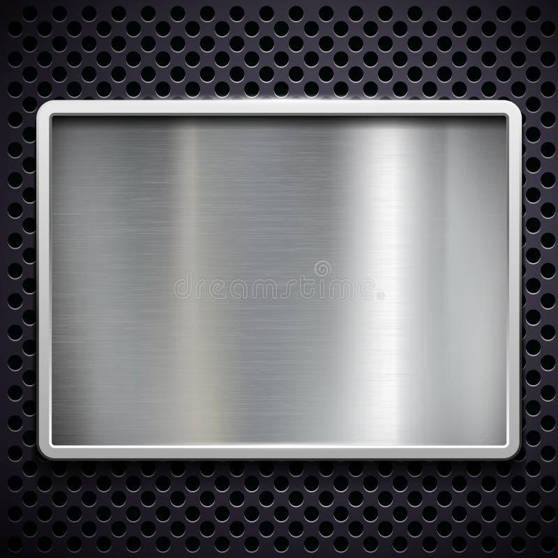 Brushed metal. Stock illustration. stock illustration