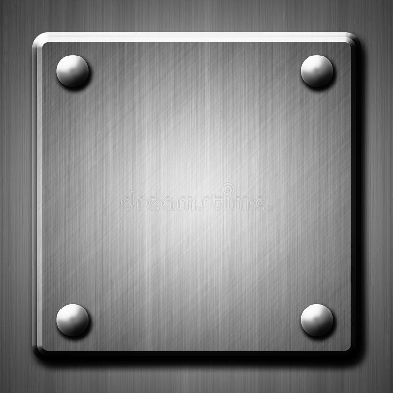 Brushed Metal Surface Effect Background Stock Image