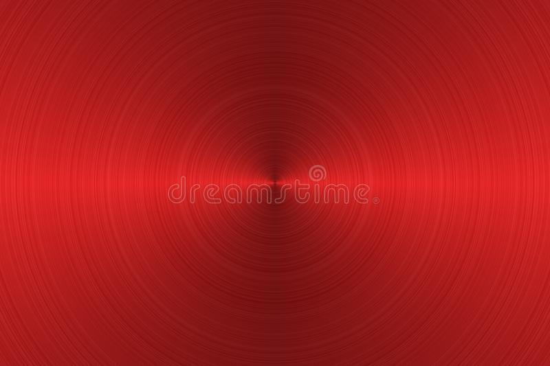 Brushed metal surface. Texture of metal. Abstract red background. Illustration vector illustration