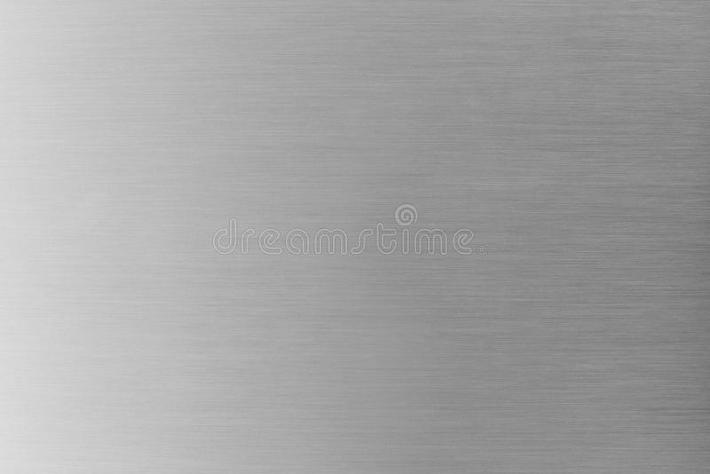 Brushed metal texture or brushed aluminum background. Abstract industrial background. Copy space for text royalty free stock image