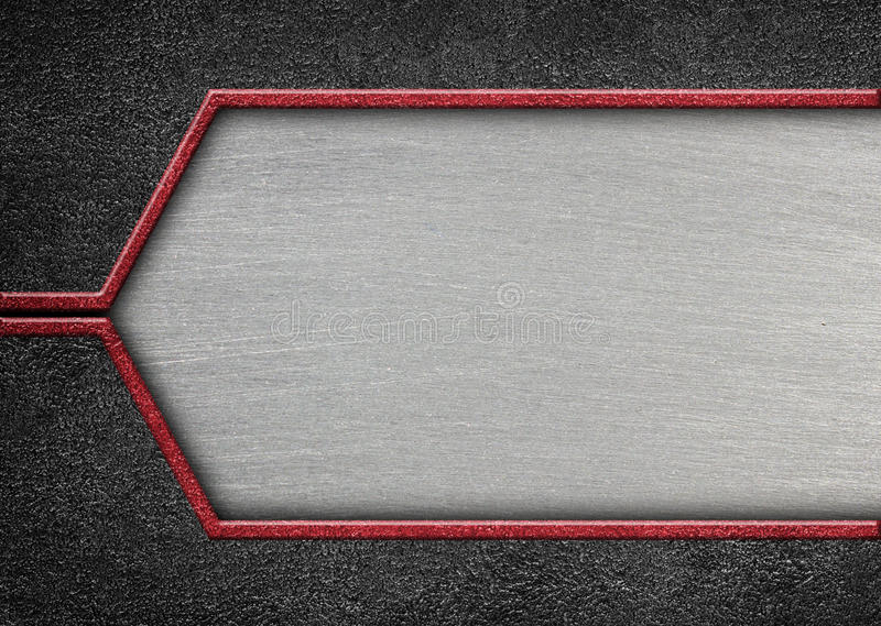 Brushed metal on textured metallic background. Abstract, 3d, ill stock illustration
