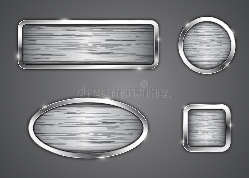 Download Brushed metallic buttons stock vector. Illustration of graphic - 32772442