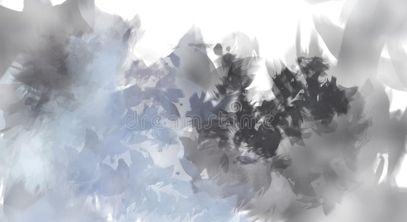 Brushed Painted Abstract Background. Brush stroked painting. Strokes of paint. Abstract Illustration. stock illustration
